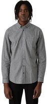 Frank + Oak Branford Small Gingham Shirt in Grey