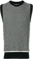 Maison Margiela knit striped tank top - men - Wool - S