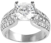 Journee Collection 4 5/8 CT. T.W. Round-cut Cubic Zirconia Bridal-style Prong Set Ring in Sterling Silver - Silver