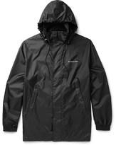 Balenciaga Printed Shell Hooded Jacket - Black
