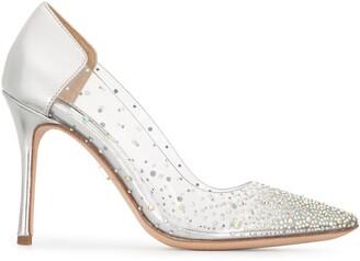 Badgley Mischka Gisela crystal-embellished pumps