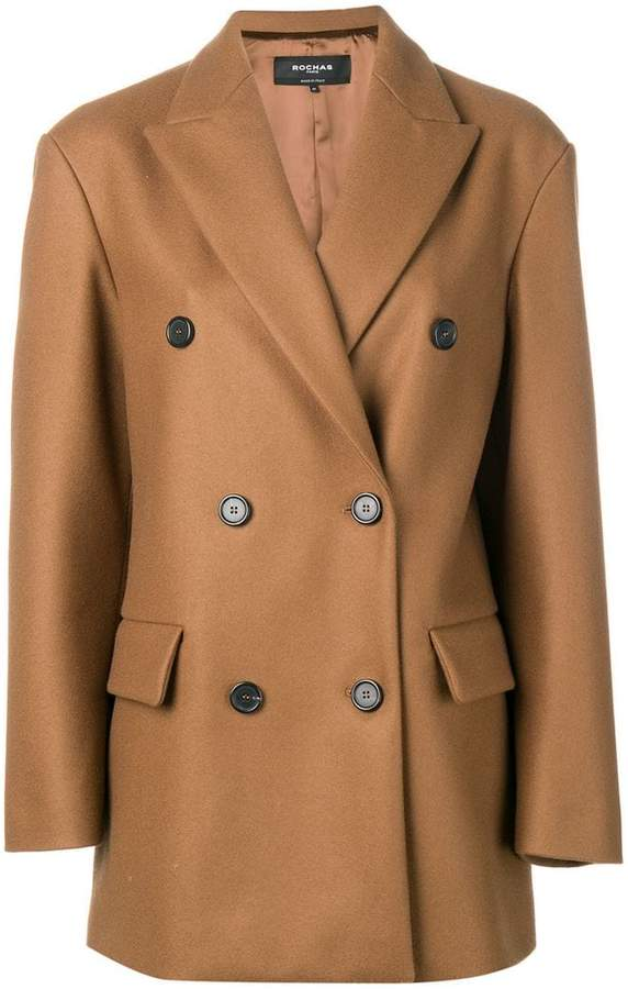 Rochas double-breasted classic coat
