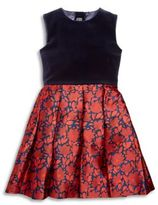Oscar de la Renta Toddler's, Little Girl's & Girl's Floral-Print Dress
