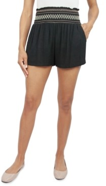 BeBop Juniors' Solid Smocked-Waist Shorts