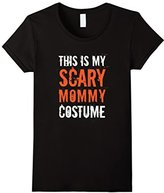Women's This is My Scary Mommy Costume Funny Halloween Humor Tee Small