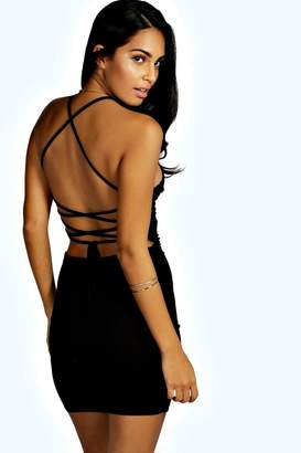 boohoo Strappy Back Mini Dress