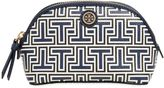 Tory Burch Parker Geo-T Faux Leather Cosmetic Bag