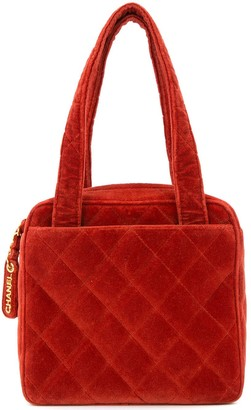 Chanel Pre Owned 1996-1997 Diamond Quilted Tote Bag