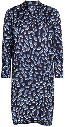 Piazza Sempione Animal-Print Shirtdress