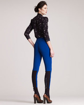 Marni Formfitting Knee-Patch Pants