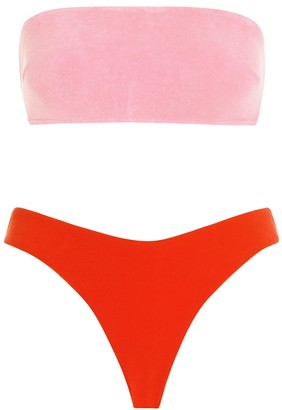 Zimmermann Poppy Terry Bandeau Bikini