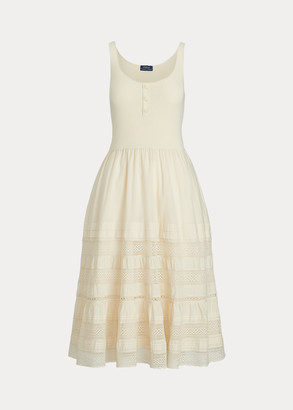 Ralph Lauren Cotton Sleeveless Henley Dress