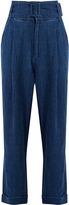 Sea Ripley high-rise wide-leg linen trousers