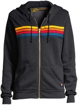 Aviator Nation Five-Stripe Zip-Front Hoodie