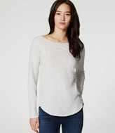 LOFT Heathered Shirttail Tee