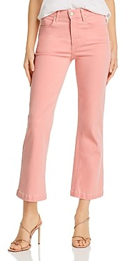 Paige Atley Ankle Flare Jeans in Pink Bloom