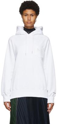 Sacai White S Embroidery Hoodie