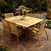 ChicTeak Elzas Teak Extendable Dining Table
