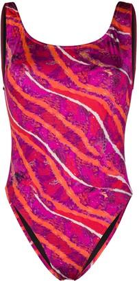 Roberto Cavalli Abstract-Print One-Piece Swimsuit