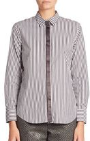 Brunello Cucinelli Long Sleeves Striped Shirt