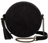T-Shirt & Jeans Women's Perforated Round Crossbody Handbag with Tassel