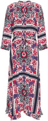 Claudie Pierlot Printed Crepe De Chine Midi Dress