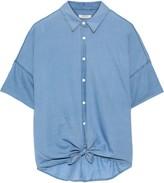 Rag & Bone Tie-front Cotton-chambray Shirt