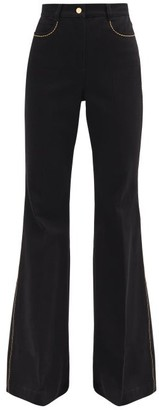 Fendi High-rise Flared-leg Jeans - Black