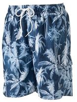 Croft & Barrow Big & Tall Tropical Microfiber Swim Trunks