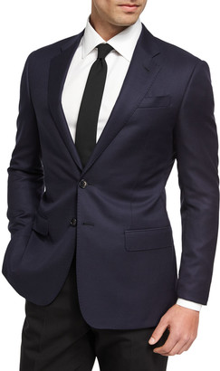 Giorgio Armani Soft Basic Wool Two-Button Sport Coat, Navy
