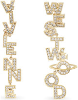 Vivienne Westwood Soho large letter stud earrings
