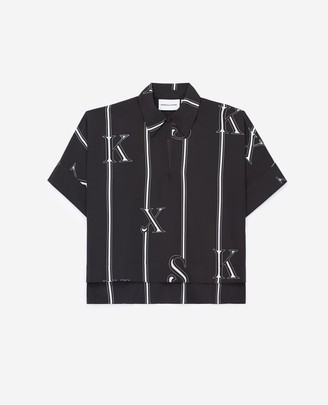 The Kooples Fitted black polo shirt with logo