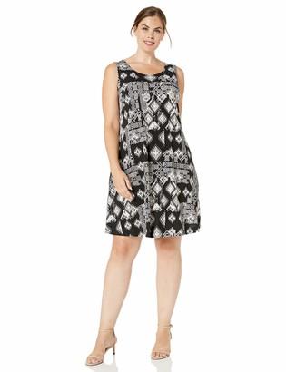 Karen Kane Women's Plus Size GEO Print Chloe Dress