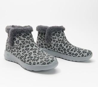 Skechers Animal Print On-the-Go Joy Bundle Up Ankle Boots