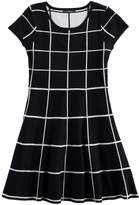 My Michelle Girls 7-16 Patterned Knit Sweater Skater Dress