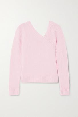 GAUGE81 Brisbane Wrap-effect Cable-knit Cashmere Sweater - Pink