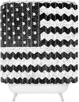 Deny Designs Zigzag Flag Shower Curtain