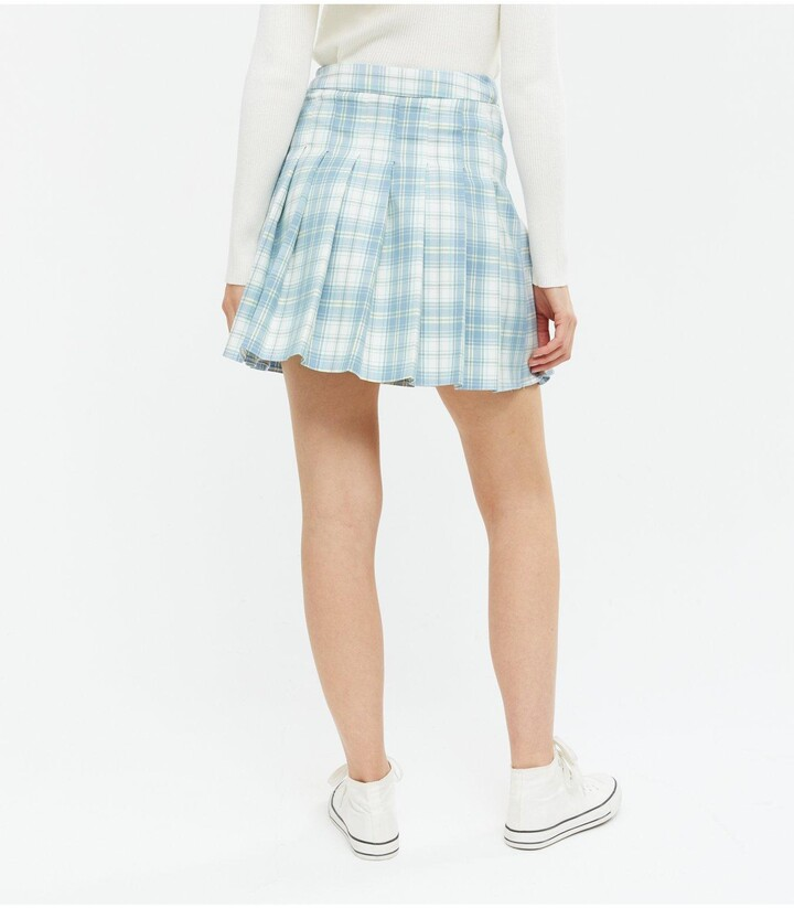 Thumbnail for your product : New Look Mariah Check Tennis Skirt - Blue Print