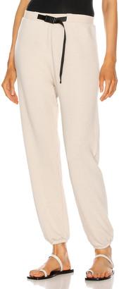 John Elliott Vintage Fleece Belted Sweatpant in Pumice | FWRD
