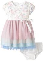 Us Angels Applique w/ Print Mesh Cap Sleeve w/ Tulle Skirt (Infant)