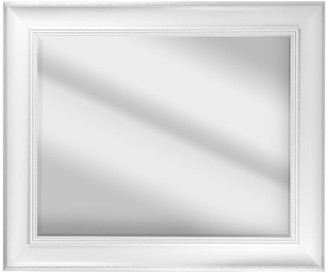 American Art Decor Camden Antiqued White Rectangular Framed Wall/Vanity Mirror
