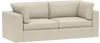 Pottery Barn PB Air Square Arm Slipcovered Sofa