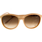 Chloé Beige Plastic Sunglasses