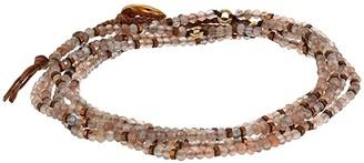 Chan Luu Pink Moonstone Naked Wrap Bracelet or Necklace (Bronze Mix) Bracelet