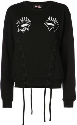 Haculla Evil Eye lace-detail sweatshirt