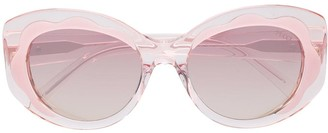 Emilio Pucci Cat-Eye Flower Detail Sunglasses
