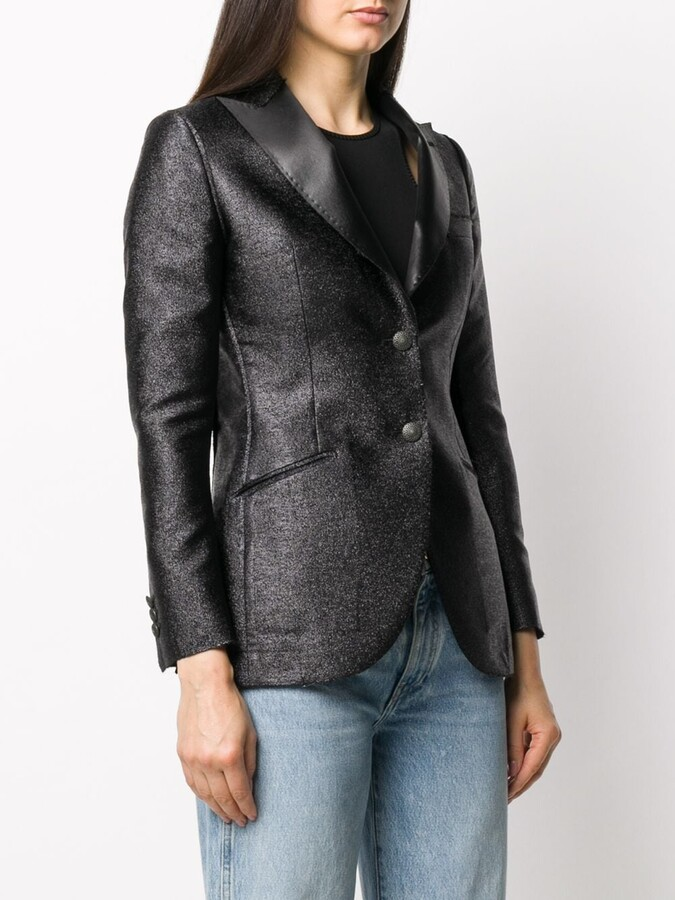 Thumbnail for your product : Maurizio Miri Metallized Fitted Blazer