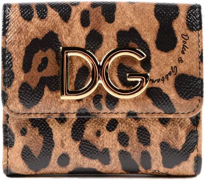 Dolce & Gabbana Small Leopard Print Wallet