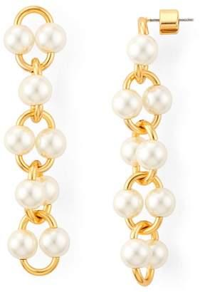 Kate Spade Nouveau Simulated Pearl Linear Drop Earrings
