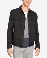 Kenneth Cole New York Men's Coated Denim Shirt-Jacket